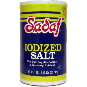 Sadaf Iodized Salt 24×26 oz.