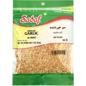 Sadaf Garlic Minced 12×3 oz.