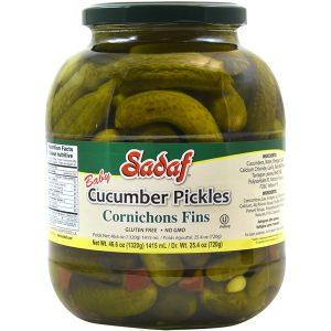 Sadaf Cucumber Pickles Cornichons Fins 6×46.60 oz.