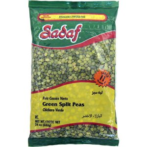 Sadaf Green Split Peas 24×24 oz.