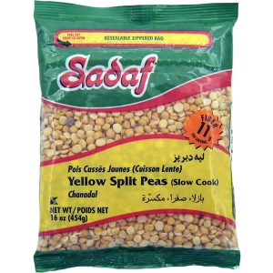 Sadaf Yellow Split Peas | Slow Cook – 24×16 oz.