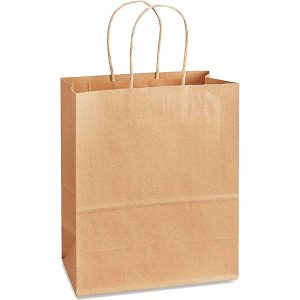 NatureBag® Whistler – Takeout Kraft Paper Bag with Twisted Handle – 150 PCS/PACK